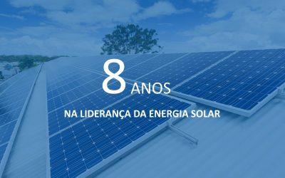 ENERBRAS comemora os 8 anos na Liderança da Energia Solar Fotovoltaica